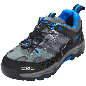 CMP Campagnolo Kids Rigel Low WP Trekking Shoes Grey-Zaffiro